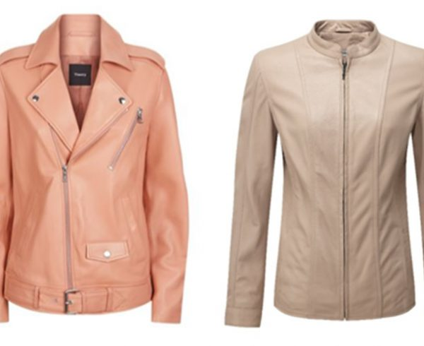 Damart pink_nude_biker_jacket