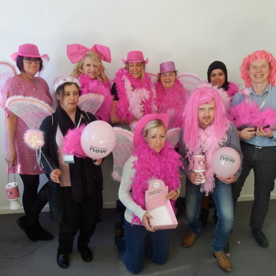charity group people pink